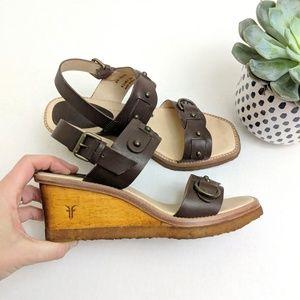 Frye Shoes - Frye Wooden Wedge Sandals